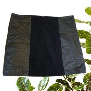 Sportsgirl Size L Leather Look Panel Skirt